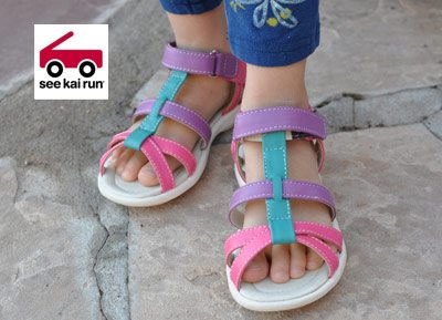 harper sandals hot pink Small Style: Spring Sandals by SEE KAI RUN