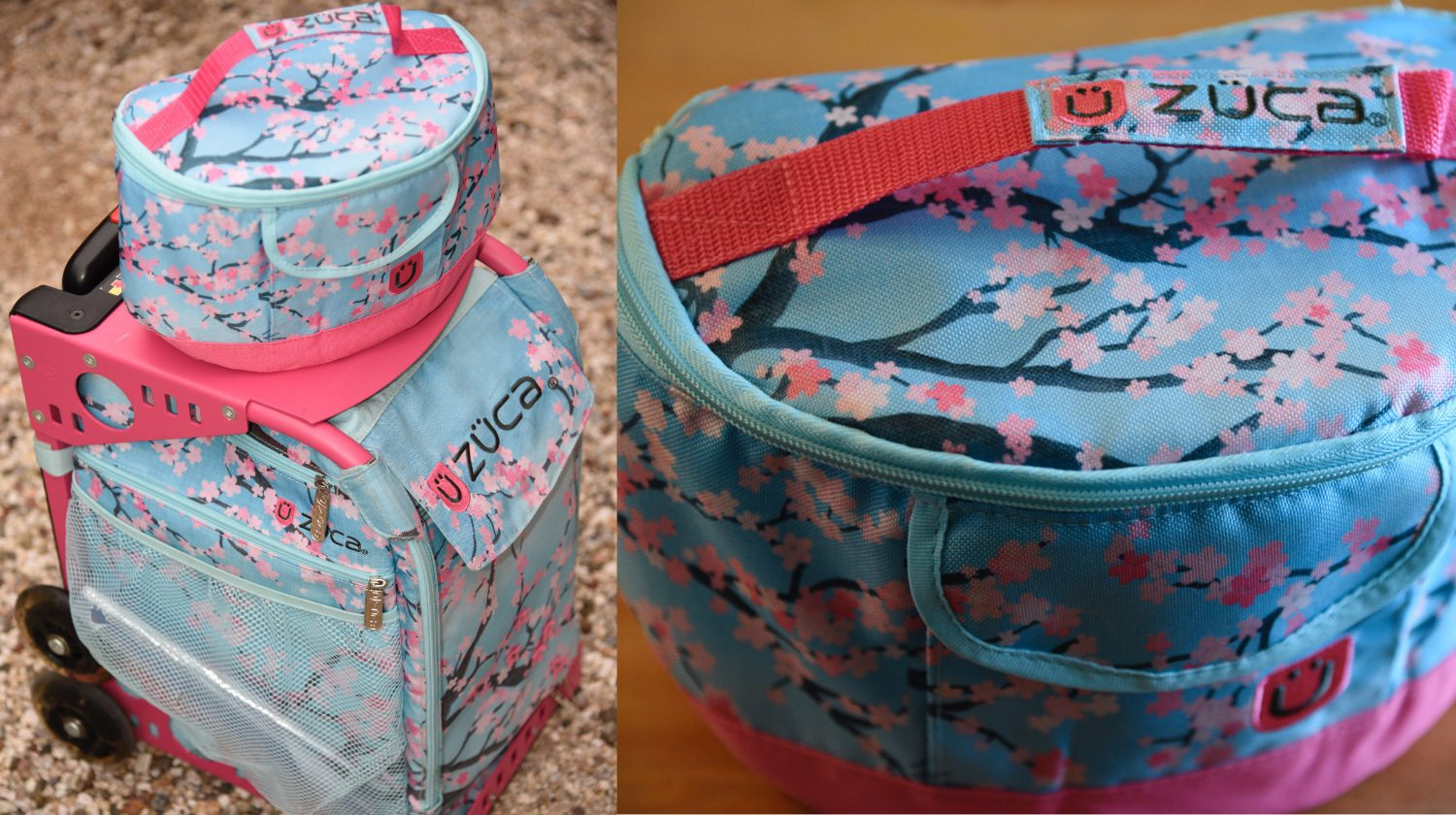 ZUCA Hanami backpack and lunchbox