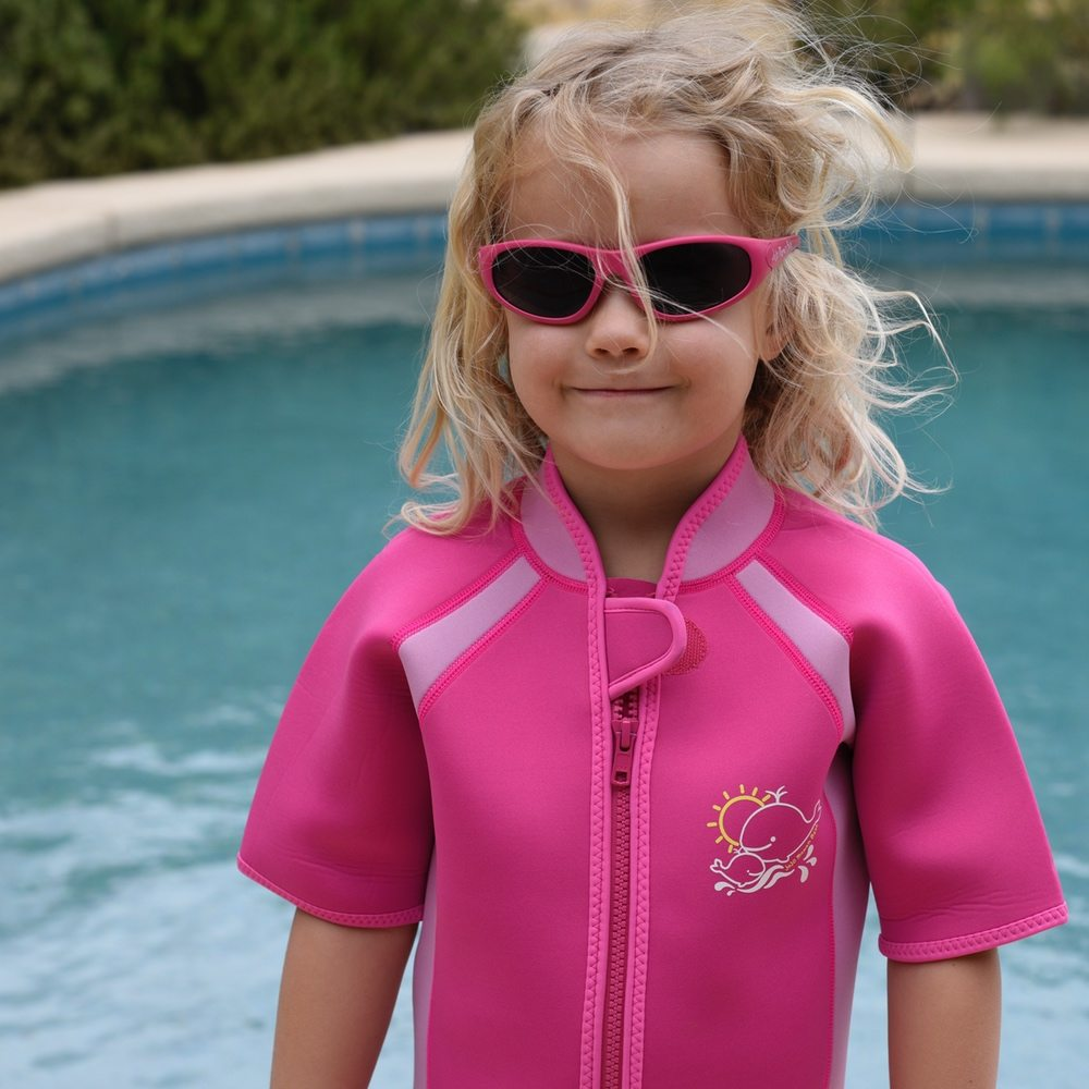 wetsuit and sunglasses fuchsia