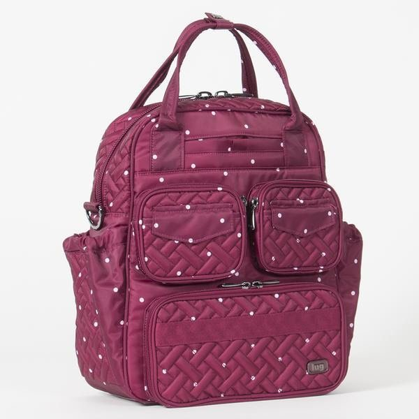 Lug Mini Puddle Jumper Dot Cranberry